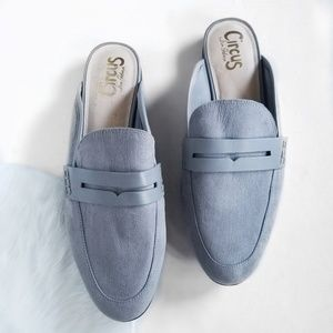 Circus by Sam Edelman Gray Suede Mule Loafer Slide